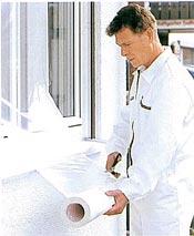 TURINO ®-SK, Maler-Abklebefolie mit Klebeband Fenster abkleben