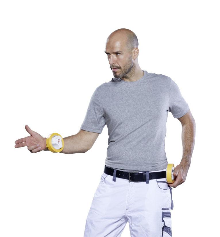 Die ProTaper Edition von Klauss-Klebeband in Aktion am Arm